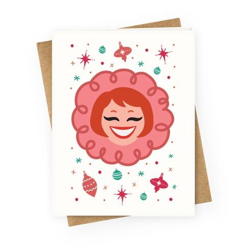 Vintage Snow Girl Greeting Card
