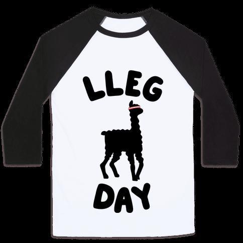 Lleg Day Llama Baseball Tee