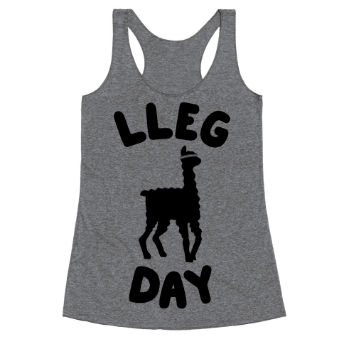 Lleg Day Llama Racerback Tank Top