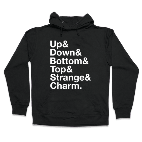 Quarks (Minimalist Design) Hooded Sweatshirt