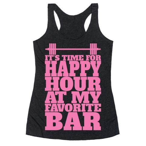 Happy Hour At My Favorite Bar Racerback Tank Top