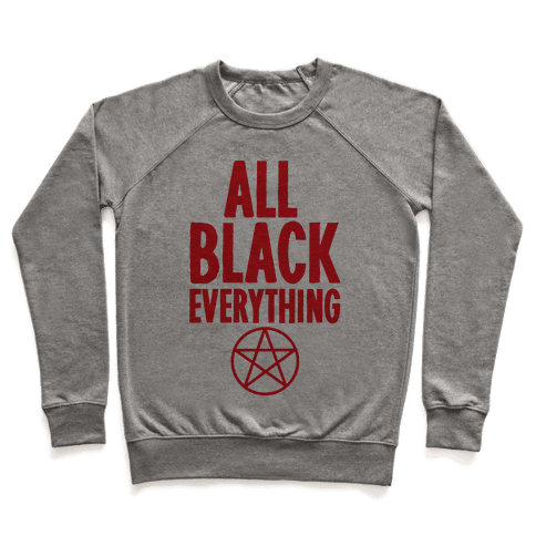 All Black Everything Pullover