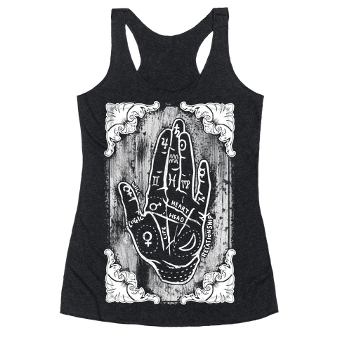 Palm Reading Racerback Tank Top