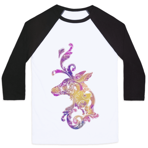 Decorative Deer Head Baseball Tee