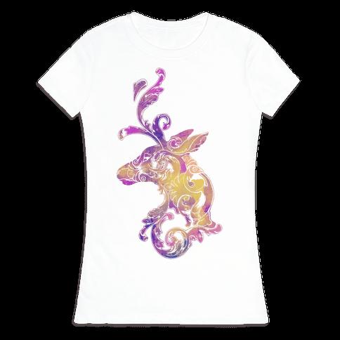 Decorative Deer Head Womens T-Shirt