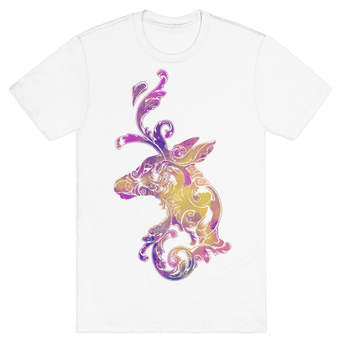 Decorative Deer Head Mens T-Shirt
