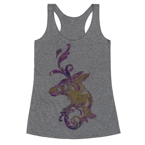 Decorative Deer Head Racerback Tank Top