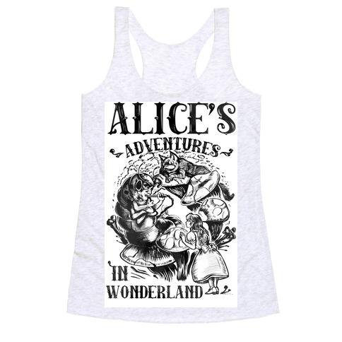 Alice's Adventures in Wonderland Racerback Tank Top