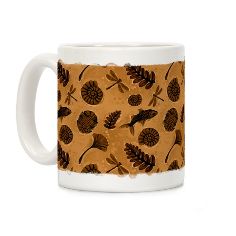 Small Fossil Pattern Coffee Mug