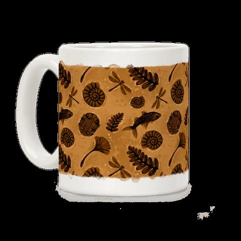 Small Fossil Pattern Coffee Mug