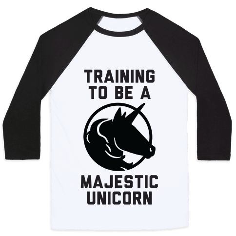 Training to Be A Majestic Unicorn Baseball Tee