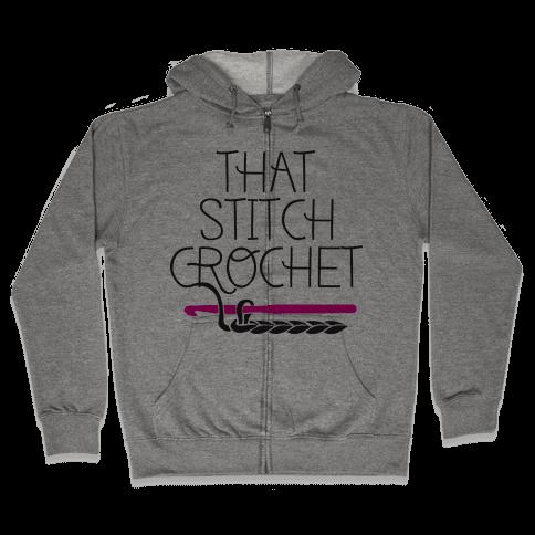 That Stitch Crochet! Zip Hoodie