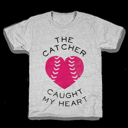 The Catcher Caught My Heart (Baseball Tee) Kids T-Shirt