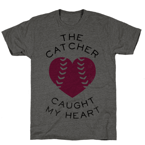 The Catcher Caught My Heart (Baseball Tee) Mens T-Shirt
