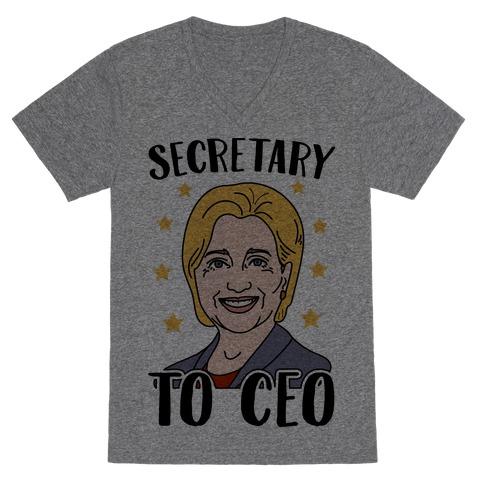 Secretary to CEO V-Neck Tee Shirt