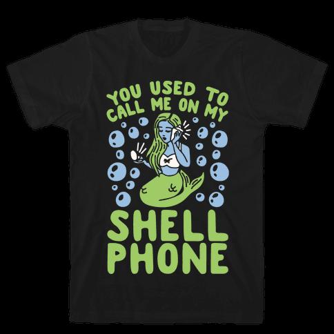 Call Me On My Shell Phone Mens T-Shirt