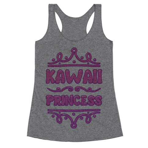 Kawaii Princess Racerback Tank Top