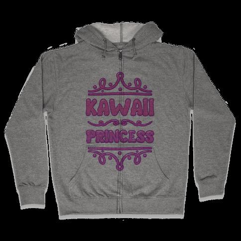 Kawaii Princess Zip Hoodie