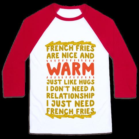 French Fry Love Baseball Tee