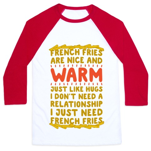French Fry Love Baseball Tee