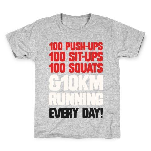 The Strongest Training Regime Kids T-Shirt