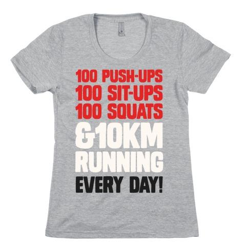 The Strongest Training Regime Womens T-Shirt
