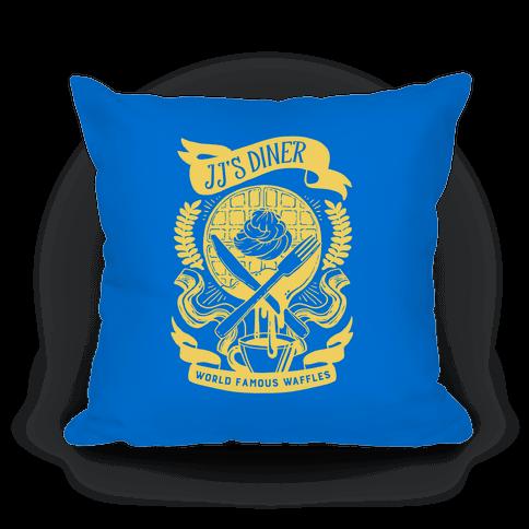 JJ's Diner: Belgian Waffle Crest Pillow