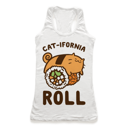 California Cat Roll Racerback Tank Top