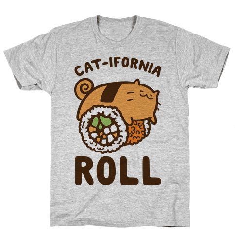 California Cat Roll Mens T-Shirt