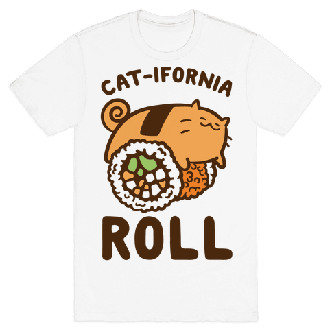 California Cat Roll Mens T-Shirt