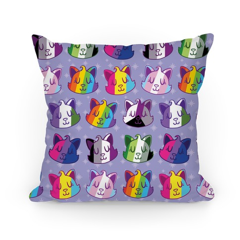 LGBTQ Cats Pillow