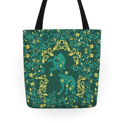 Equestrian Floral Pattern Tote