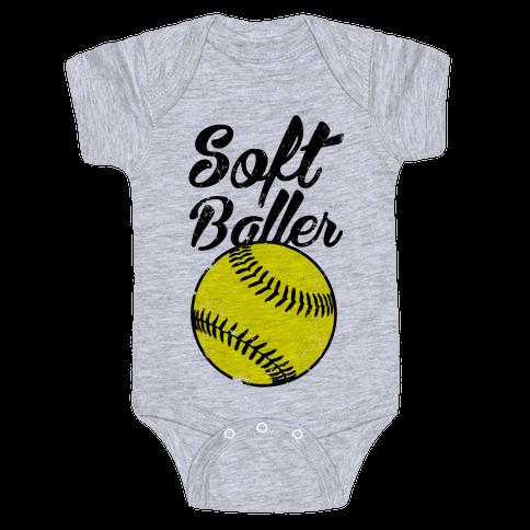 Softballer Baby Onesy