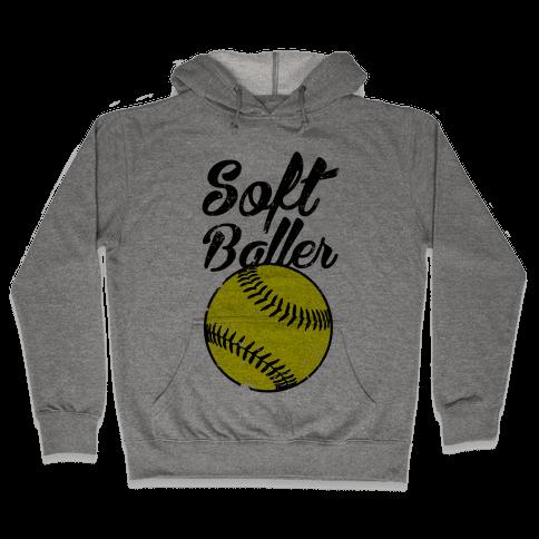 Softballer Hooded Sweatshirt