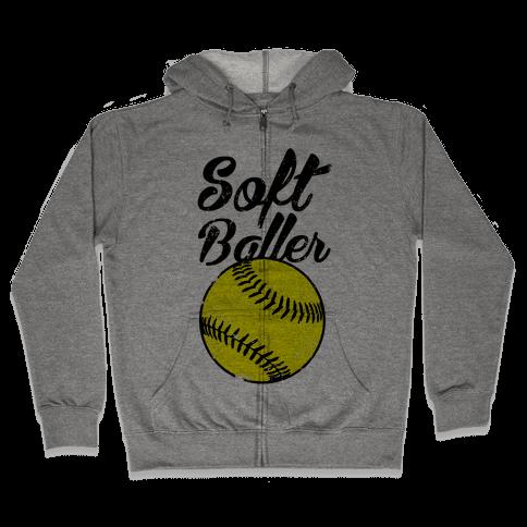 Softballer Zip Hoodie