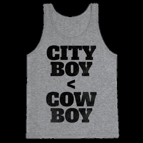 City Boy < Cowboy Tank Top