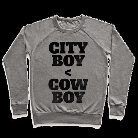 City Boy < Cowboy Pullover