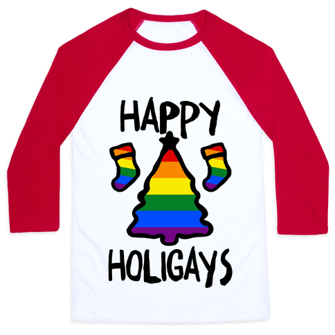 Happy Holigays Baseball Tee