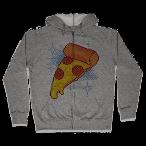 Pixel Pizza Zip Hoodie