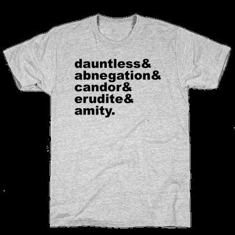 Factions List Mens T-Shirt