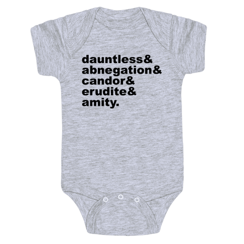 Factions List Baby Onesy