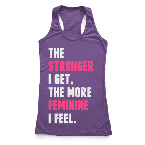 Strong Feminine Workout Racerback Tank Top
