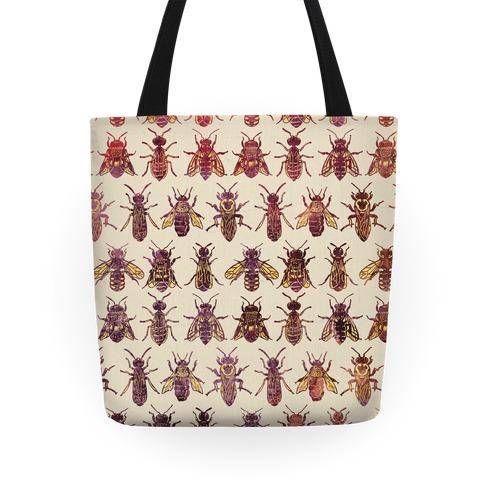 Bee Species Pattern Tote