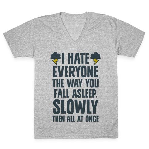 I Hate Everyone (TFIOS) V-Neck Tee Shirt
