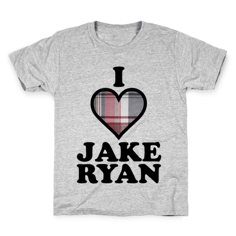 I Love Jake Ryan Kids T-Shirt