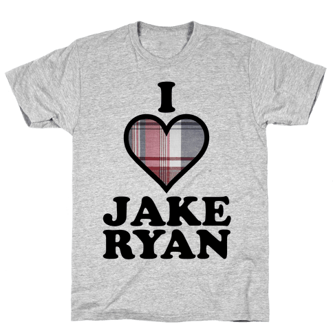I Love Jake Ryan Mens T-Shirt