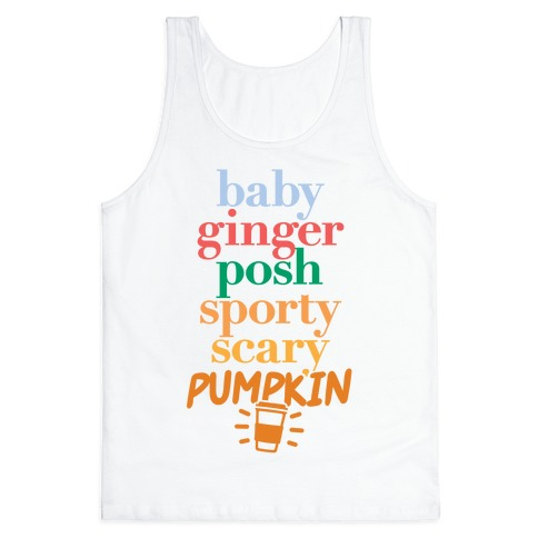 Spice Girls Members List (Pumpkin Spice) Tank Top