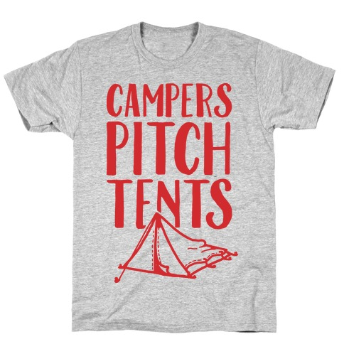 Campers Pitch Tents Mens T-Shirt