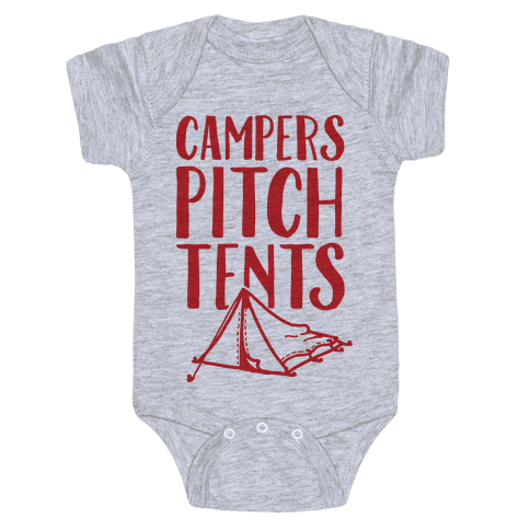 Campers Pitch Tents Baby Onesy