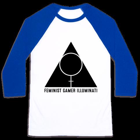 Feminist Gamer Illuminati Baseball Tee